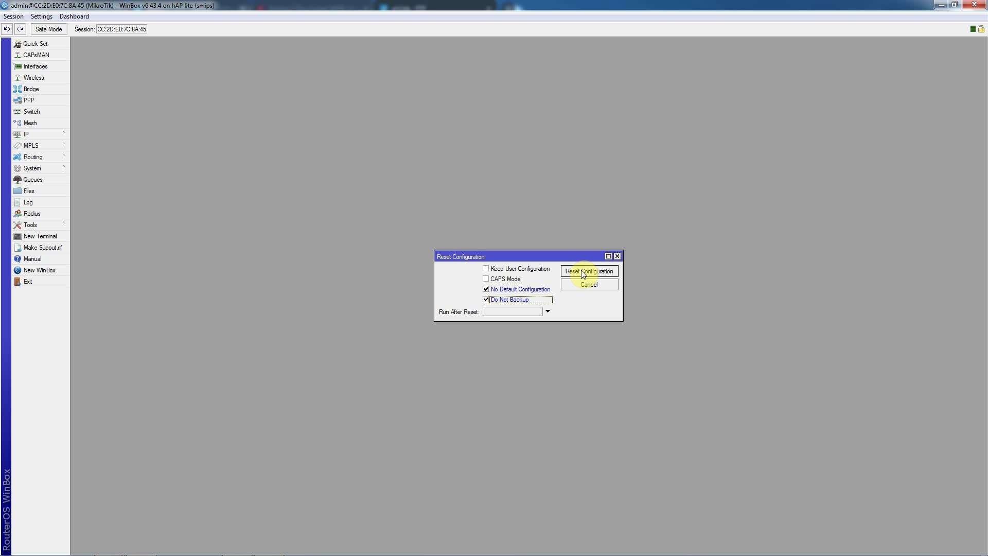 Ρύθμιση Mikrotik από router σε network switch